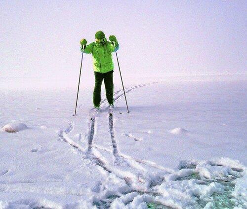 На лыжах из тумана...