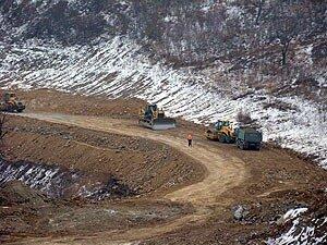 В Находке строят новый участок объездной дороги
