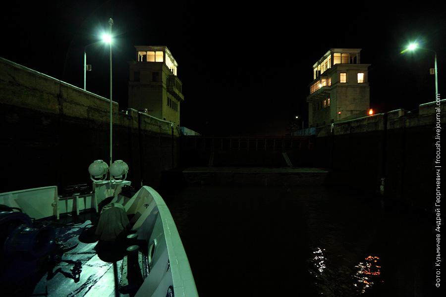 шлюз №3 КиМ ночное фото шлюз с каравеллами
