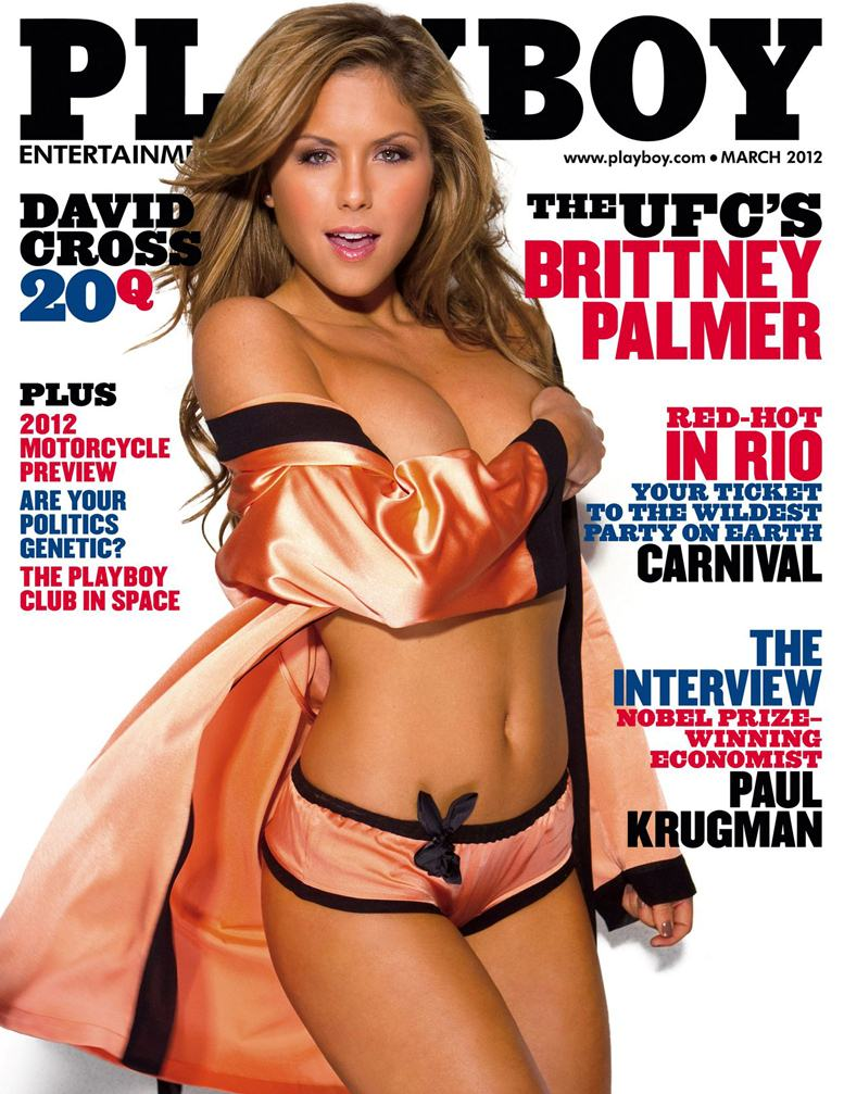Brittney Palmer (UFC) на обложке Playboy USA march 2012