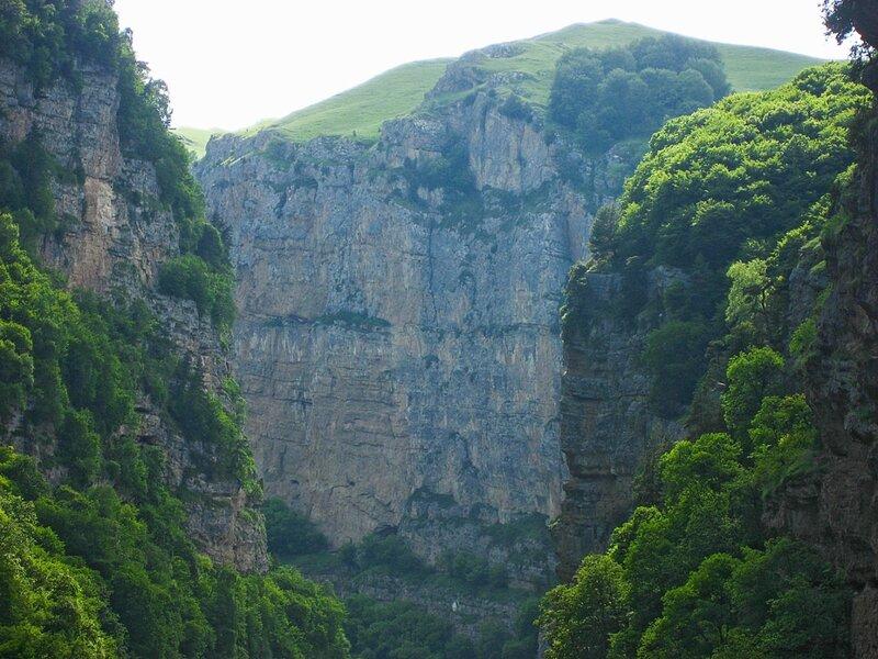 Чегемское ущелье - горная теснина, красивые водопады и Верхний Чегем - Руины, Достопримечательности, Горы, Водопады - russia, kavkaz, kabardino-balkaria