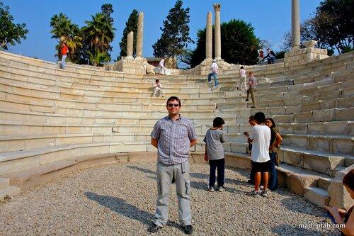 александрия, египет, римский амфитеатр