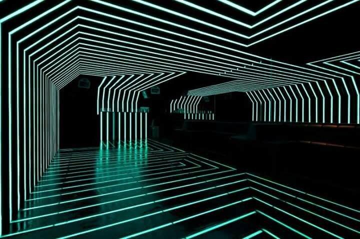 Невероятное освещение ночного клуба в Бразилии
