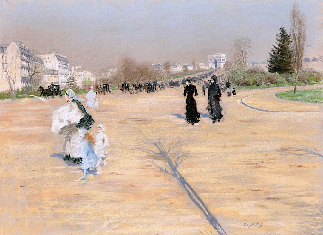 1 Giuseppe de Nittis     The Arc e Triumphe from the Avenue Foch.jpg