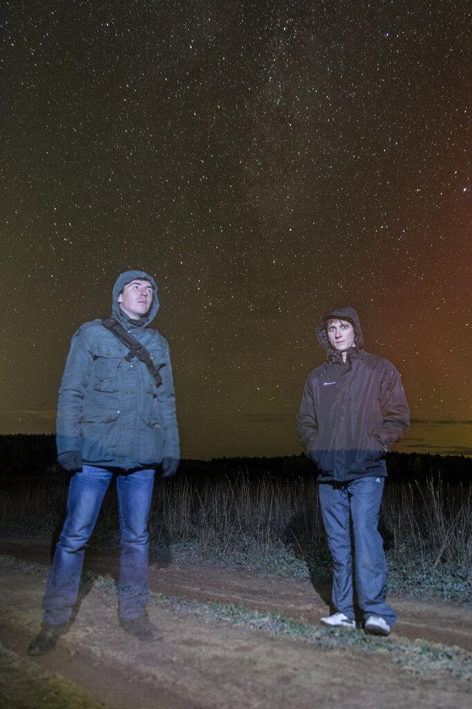 Я и Гриша на фоне Млечного пути