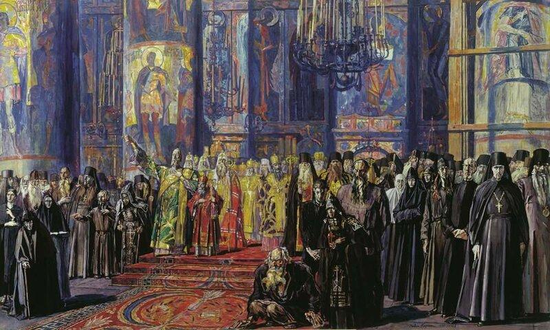 Павел Корин. Русь уходящая (Эскиз). 1935-1959. Третьяковская галерея.