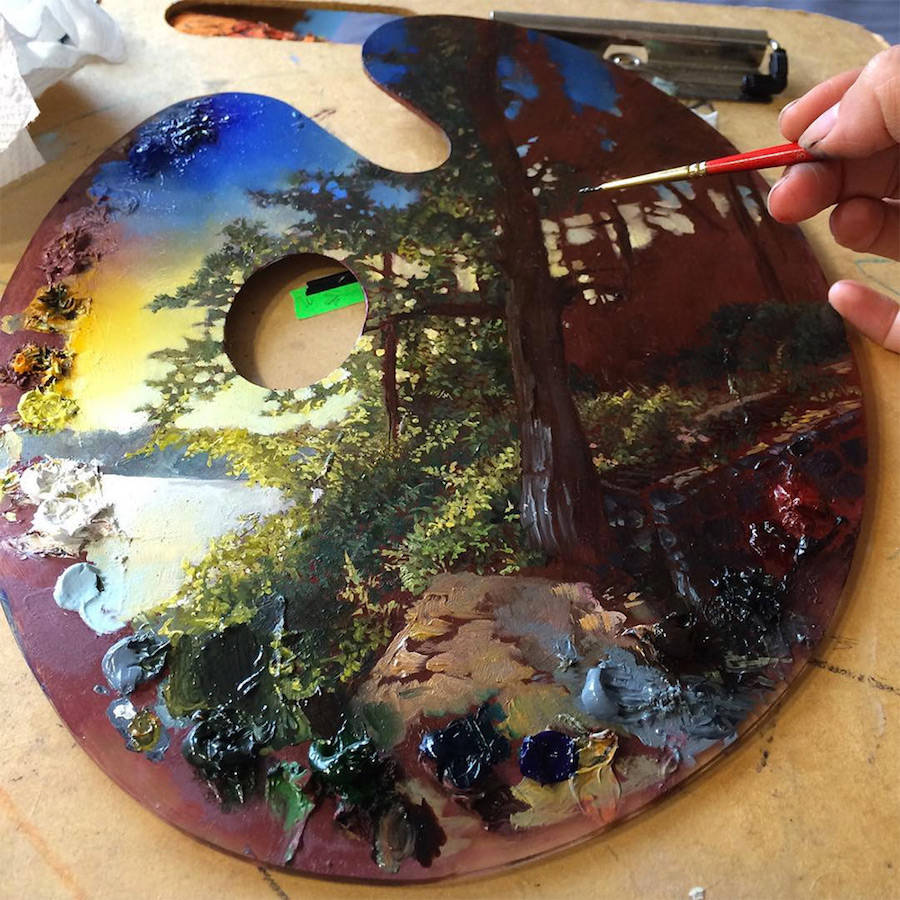 Palettes Turned Into Gorgeous Paintings