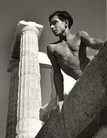 Beneath the Poseidon Temple, Torremolinos, 1951