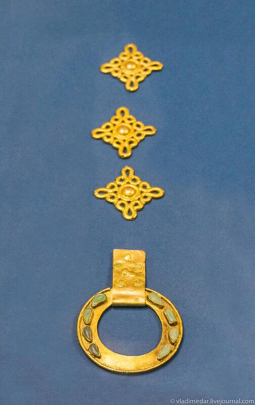 Детали наборного пояса. Золото.