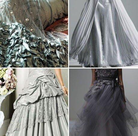 Выбираем серое свадебное платье