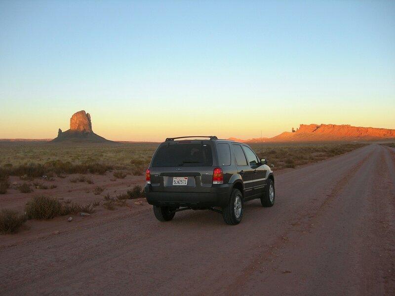Осень в Аризоне. Скалы на закате дня.