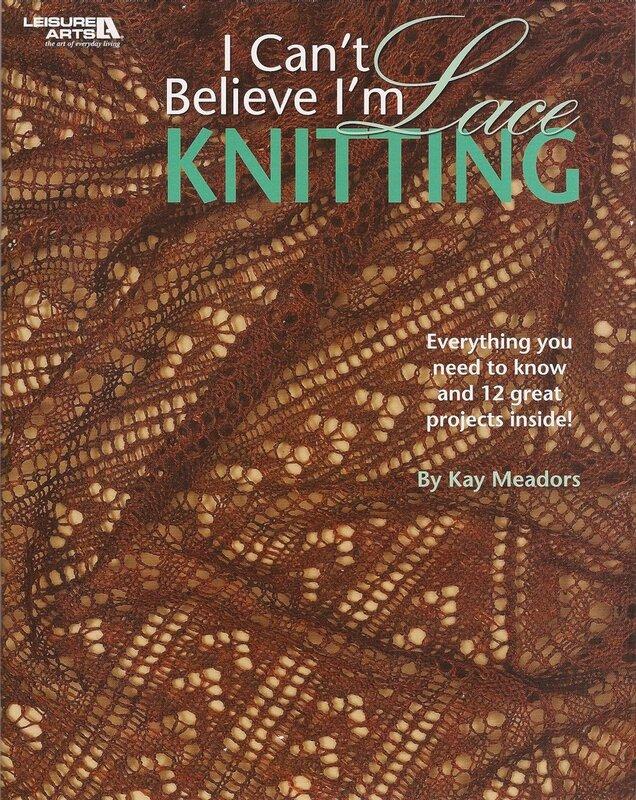 Вязание ажурных платков спицами