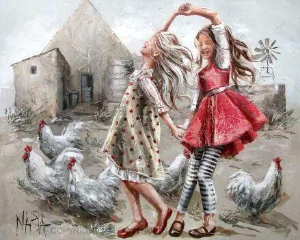 Только в детстве платье было сказкой, с голубой, небесною окраской! Maria Magdalena Oosthuizen