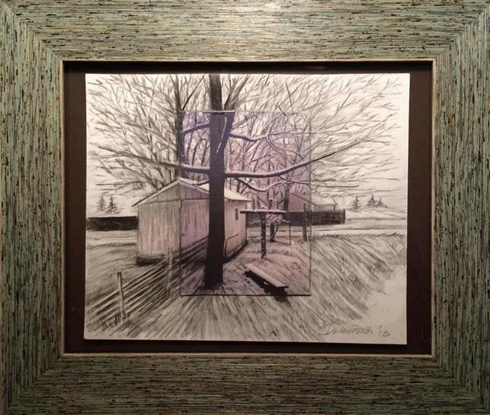 Дженнифер Делауренти Художница «расширяет» фотографии с помощью цветных карандашей