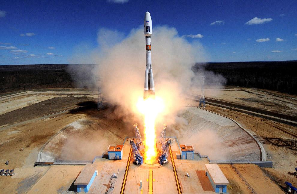 14. Космодром Восточный и первый запуск ракеты 28 апреля 2016. (Фото Kirill Kudryavtsev   Reute