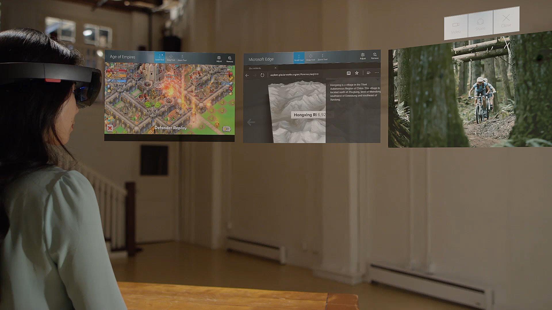 Microsoft предложила Windows Holographic производителям VR- иAR-шлемов