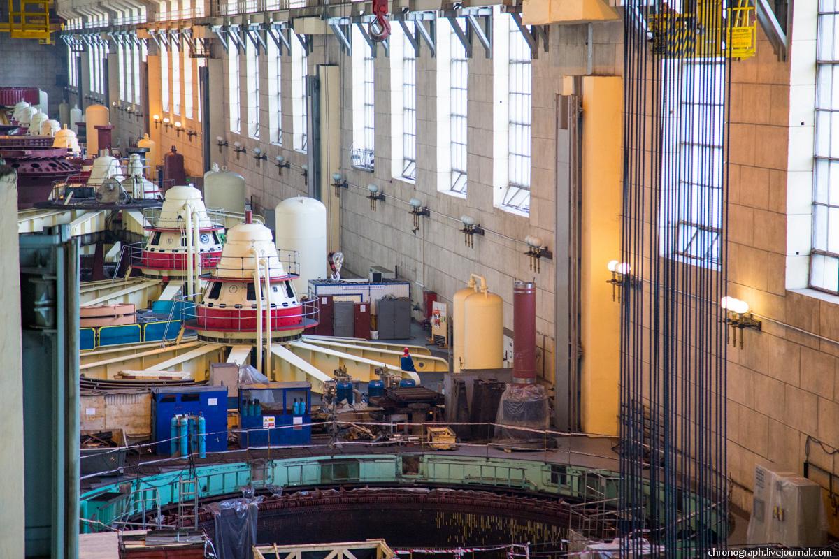 Монтаж рабочего колеса гидроагрегата №7 на Жигулёвской ГЭС 0_11235b_541e179b_orig