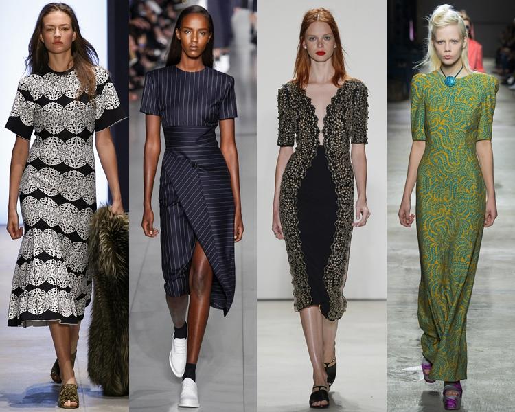модный фасон платья 2016: платья с коротким рукавом