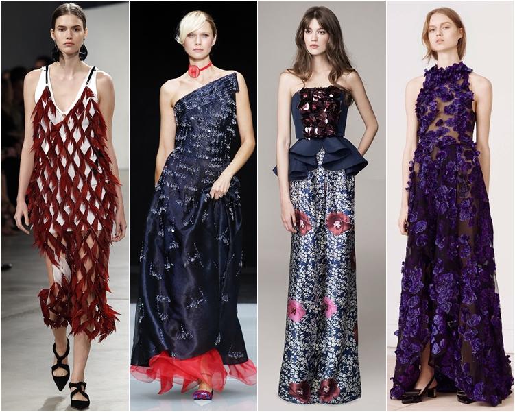 модный фасон платья 2016: платья с аппликациями