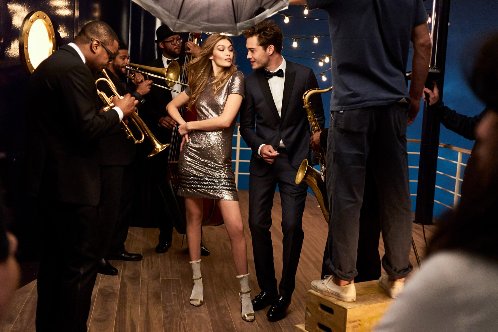 Tommy Hilfiger Holiday 2016 - Gigi Hadid & Francisco Lachowski by Gregory Harris / backstage