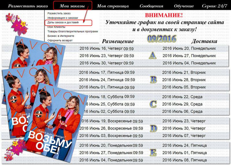 ГРАФИК ДЕЙСТВИЯ КАТАЛОГА 09_2016