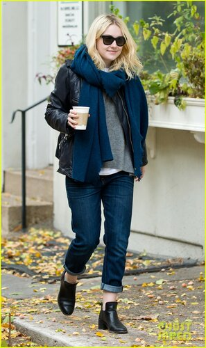 Richard Gere and Dakota Fanning are seen on set of the movie