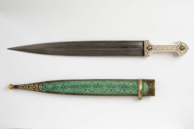 Dagger and sheath, Dagestani, 1861