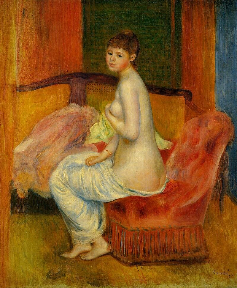 Seated Nude (also known as At East), 1885, Pierre Auguste Renoir (1841-1919)
