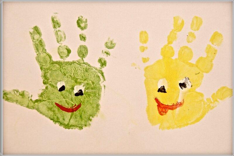 Рисунки ладошками и пальчиками фото