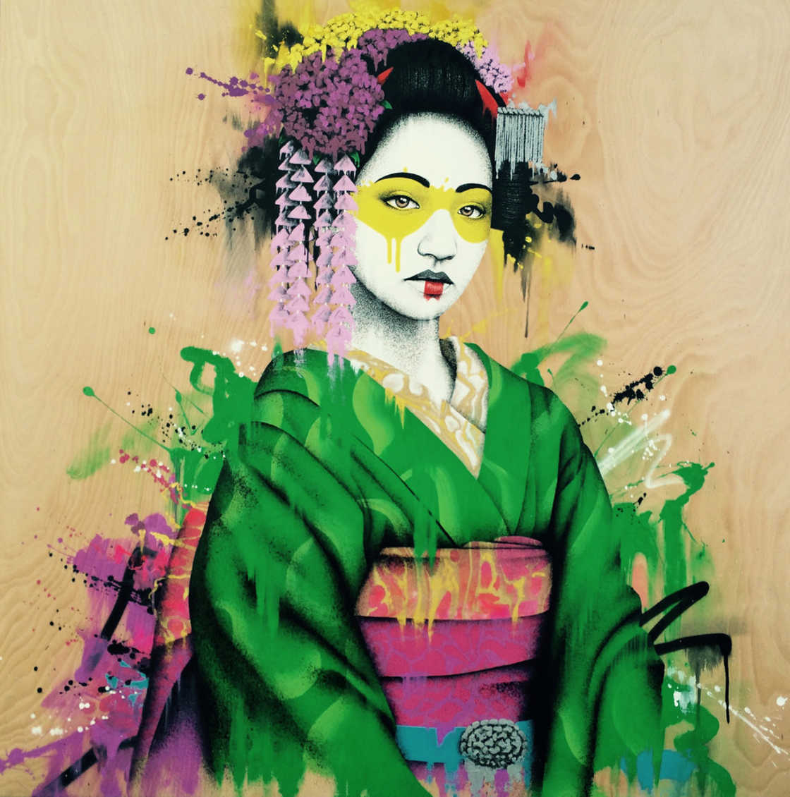 Street Art - Beautiful portraits by Fin DAC