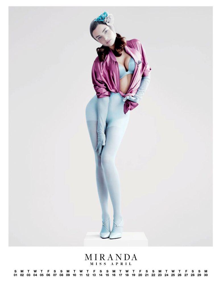 Ангелы Victorias Secret в пин-ап календаре на 2012 год - модель Миранда Керр / Miranda Kerr