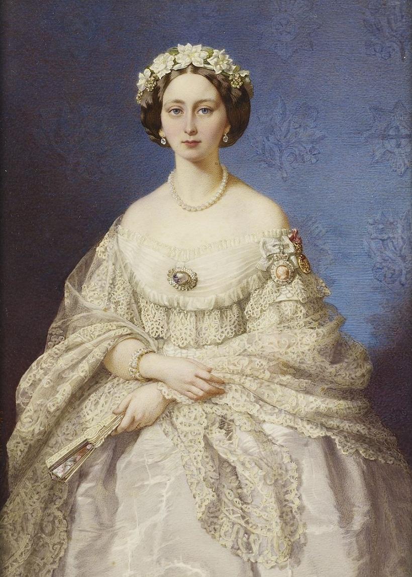 Портрет принцессы Алисы, 1860 г. Художник - Эдуардо Мориа.