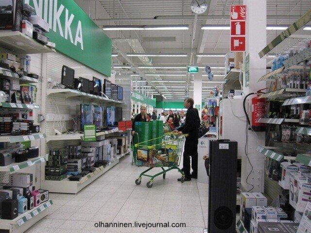 Финский супермаркет в Варкаусе