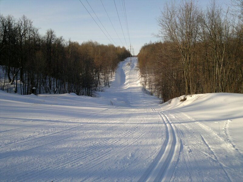 1. Лыжная трасса - первая горка