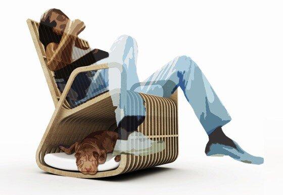 необычное кресло качалка