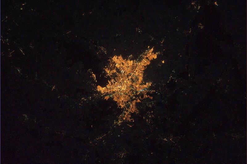 Харьков ночью из космоса