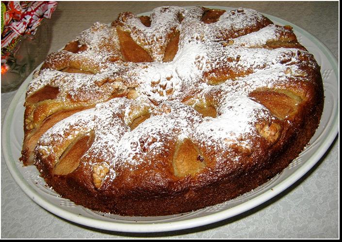 грушевый пирог фото рецепт