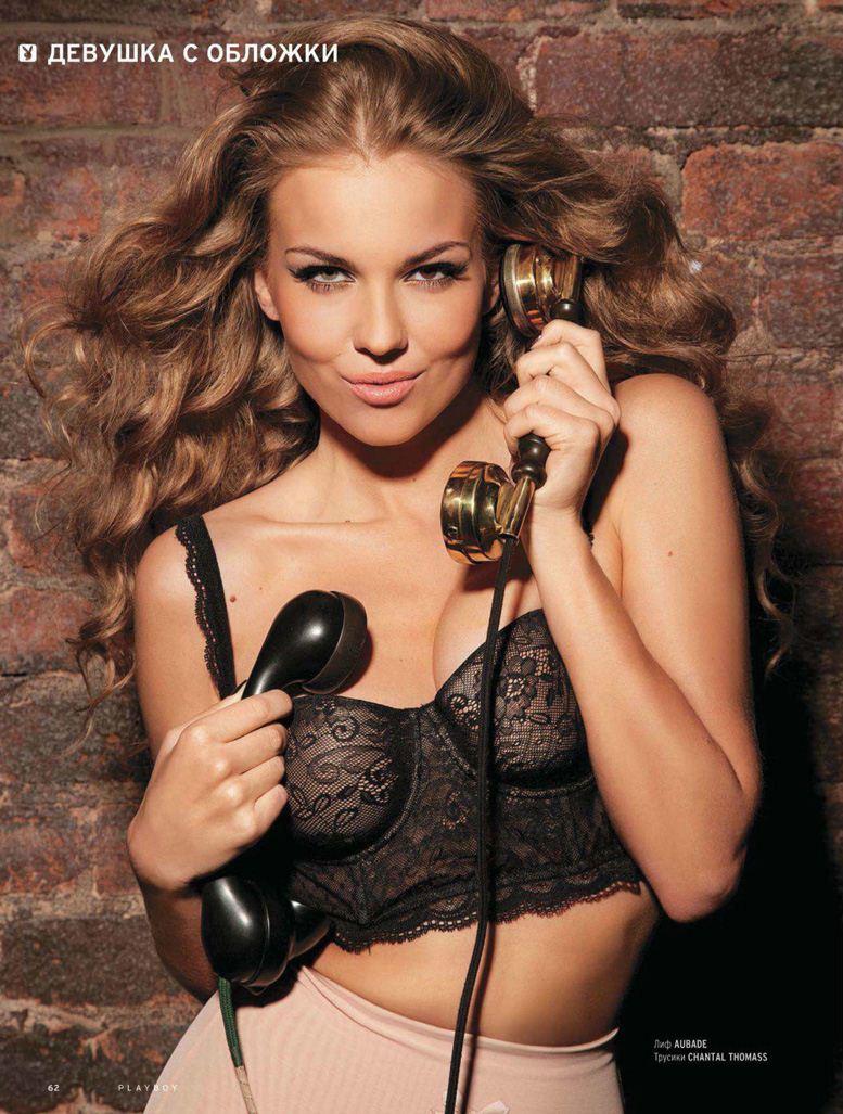 Лена Горностаева, девушка из календаря для Путина, в журнале Playboy Россия, март 2012