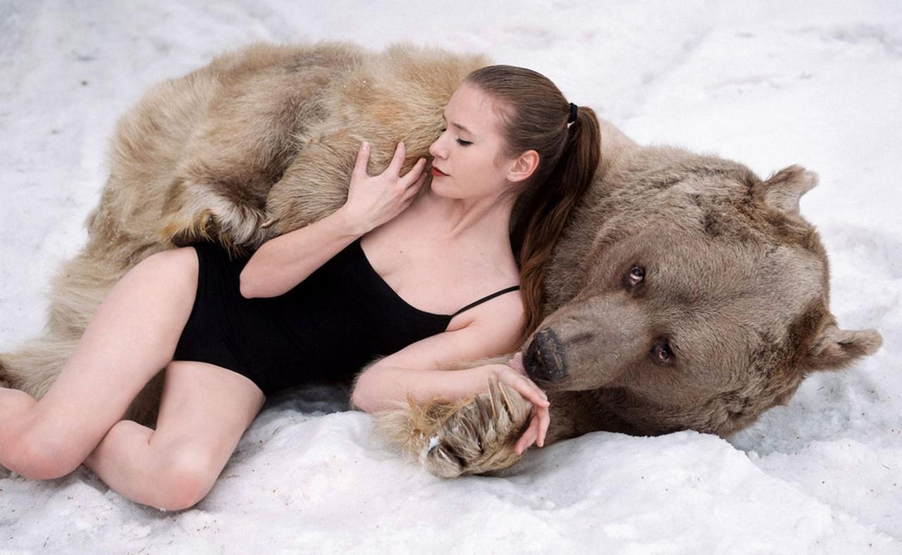 Секс фото с медведем 17 фотография