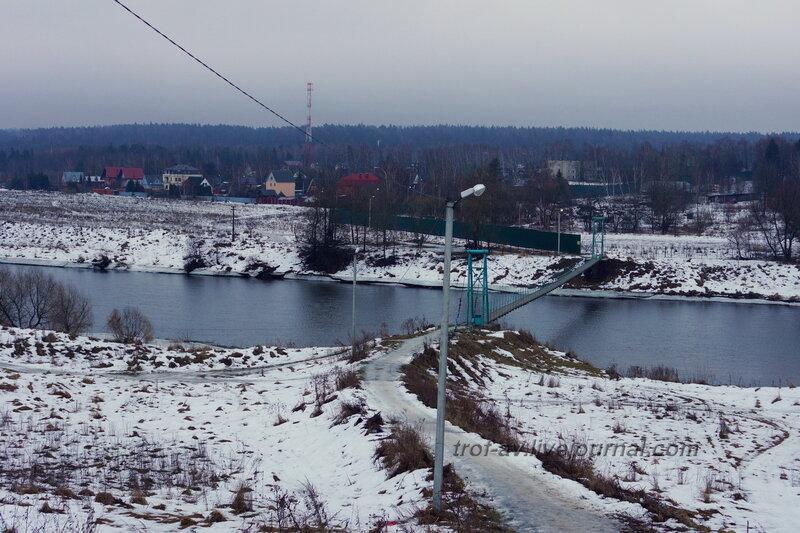 Самый длинный висячий мост через Москву-реку в Подмосковье