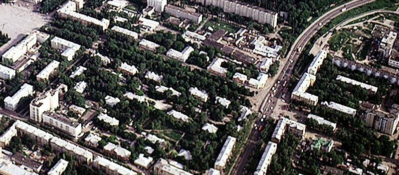 Аэросъёмка квартала, 1997 г.