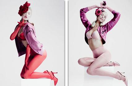 Ангелы Victorias Secret в пин-ап календаре на 2012 год