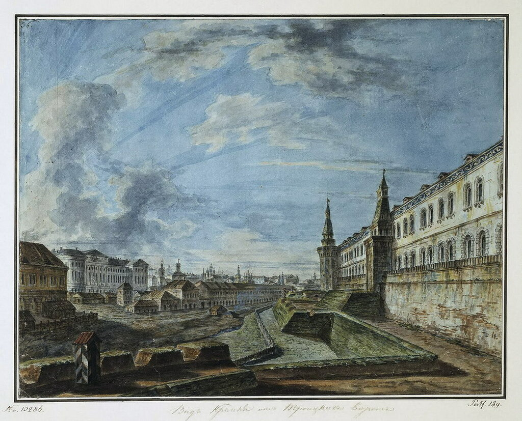 Вид на Кремль от Троицкой башни