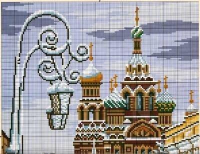 вышивка крестом схемы храмы
