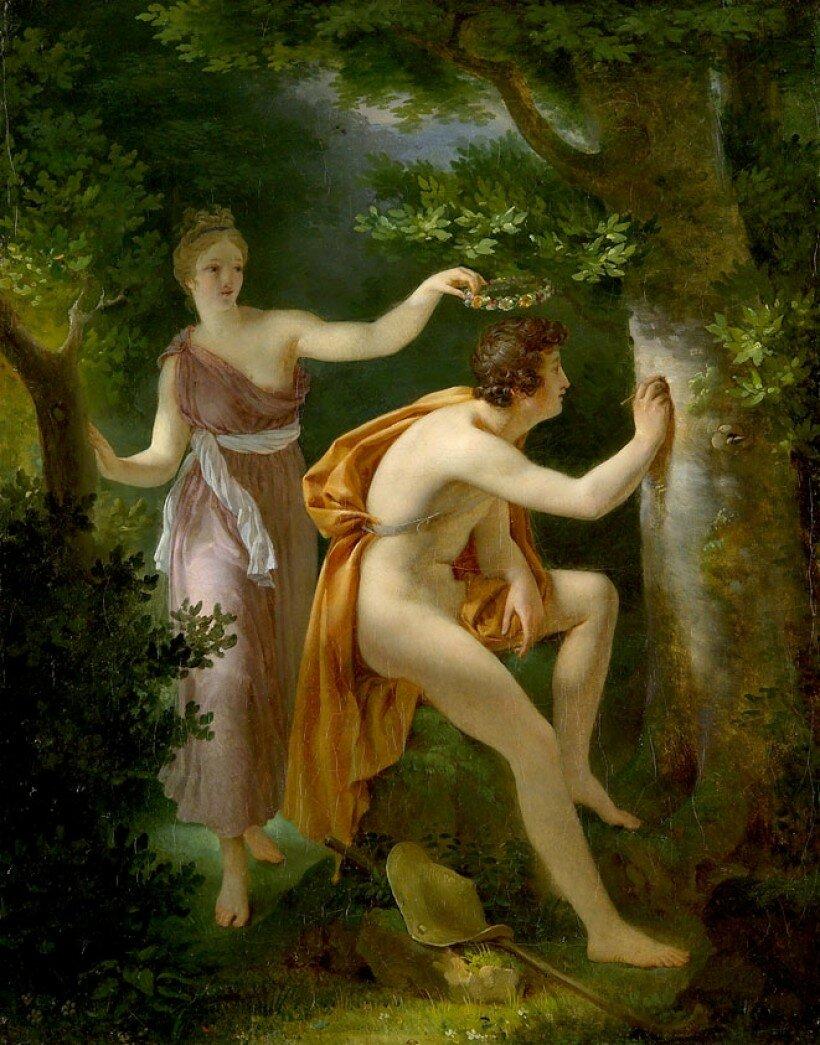 """""""Daphnis et Chloé"""" Nicolas André MONSIAU (Paris 1754 – 1837)"""