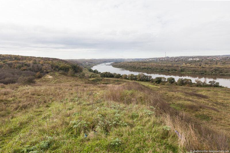 Вид на Оку с Ильинской горы