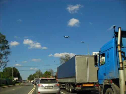 Пробка на Дмитровском шоссе от деревни Капустино до Красной Горки