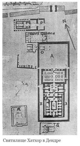 Святилище Хатхор в Дендре, Египет, план