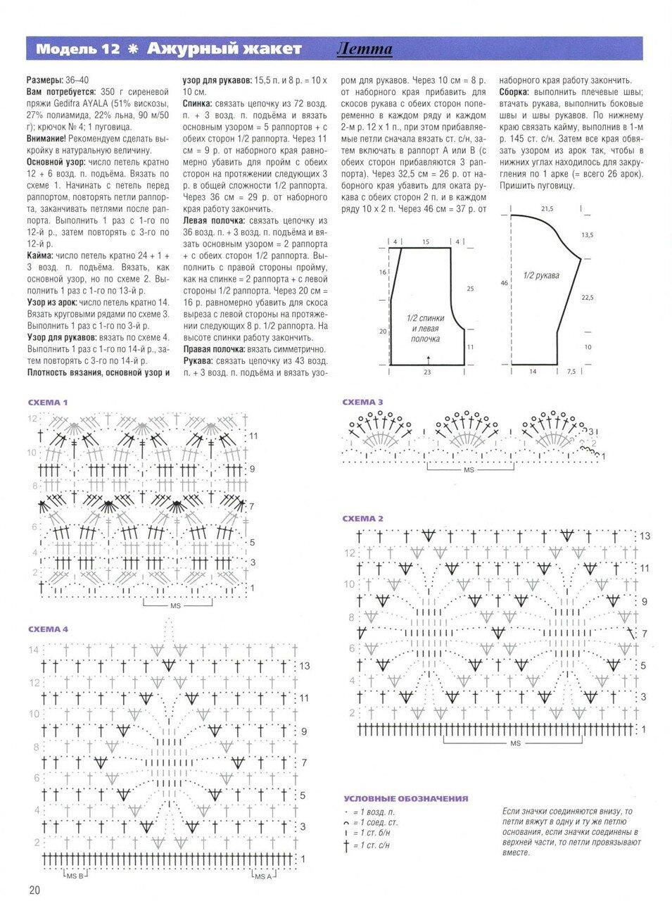 Блог по вязанию со схемами