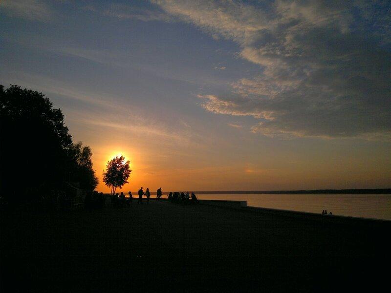 Закатный венец и паргелий